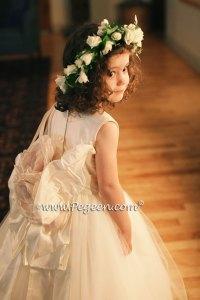 Plus Size Flower Girl Dress in Ivory Silk | Pegeen