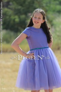 Periwinkle Bat Mitzvah/Jr. Bridesmaid Dress