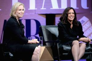 Senators Kirsten Gillibrand and Kamala Harris