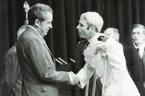 President Nixon greets John McCain
