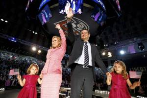Ted Cruz and family at Liberty University