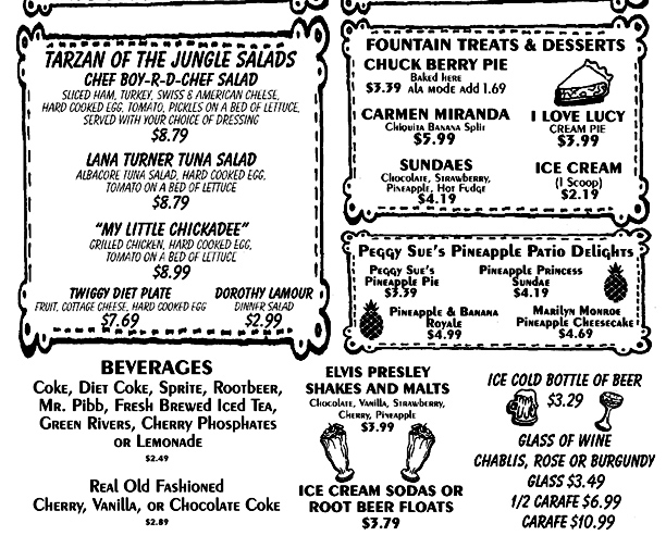 Peggy Sue's 50's Diner-Dinner