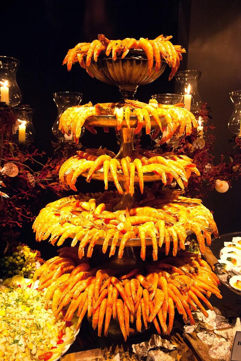 Mesa de Frutos do Mar do Le Buffet  Peguei o Bouquet
