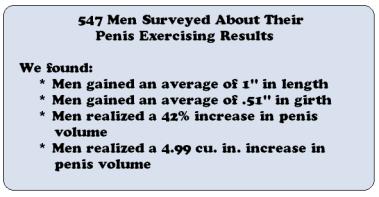 penis enlargement survey