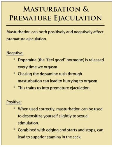 premature ejaculation & masturbation