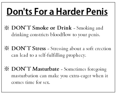 harder penis donts