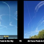 Navy VS Air Force penis in sky