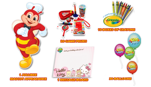 Jollibee Party Favors