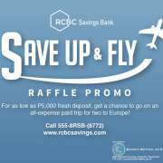 "RCBC Europe Travel Promo:  ""Save Up And Fly"""
