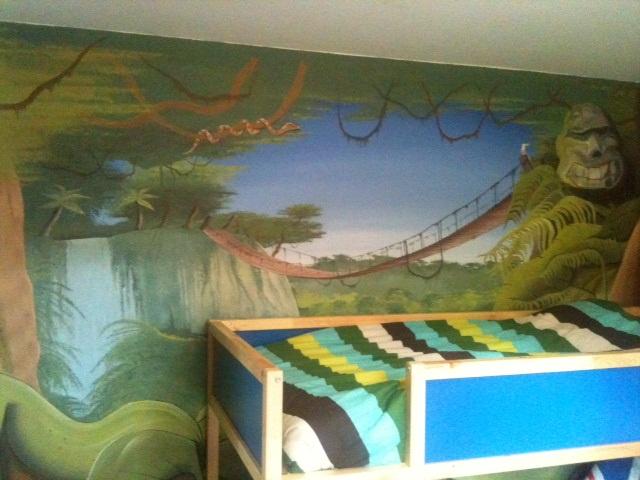 Dcor Chambre Enfant Peinture Chambre AdoFresque Chambre  Trompe loeil fresque murale