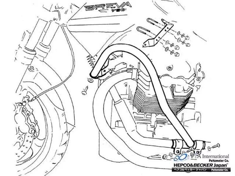 ヘプコ&ベッカー モトグッツィ / MotoGuzzi用 エンジンガード / タンクガード
