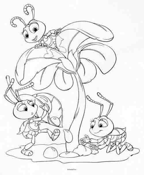 Dibujos para colorear Disney Bichos