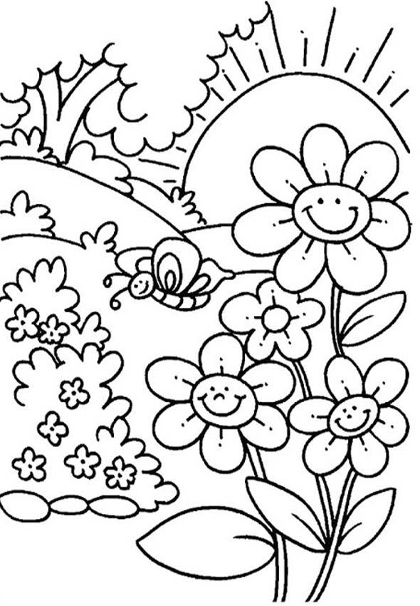 Flores colorear 22