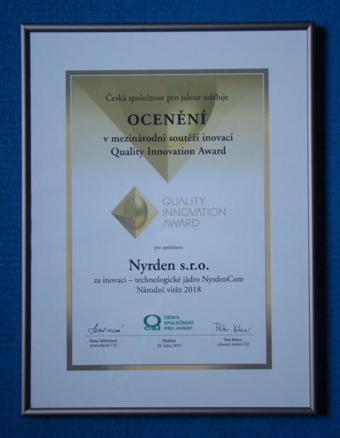 Quality Innovation Award, energetická soběstačnost