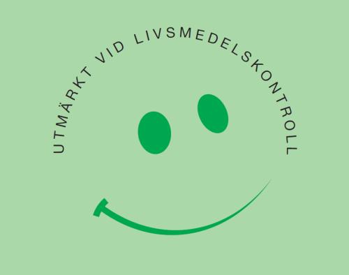 Smiley-dekal, för utmärkt livsmedelshantering