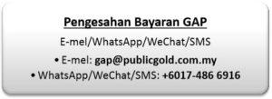 Beli emas GAP - pengesahan Whatsapp/WeChat/SMS