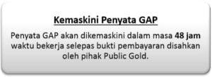 Beli emas GAP - kemaskini penyata