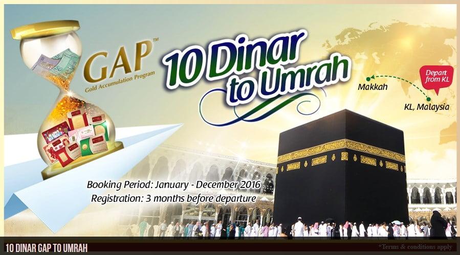 Umrah 10 Dinar Public Gold - Safari Haramain. Anda boleh buat tempahan tunaikan umrah sepanjang tahun.