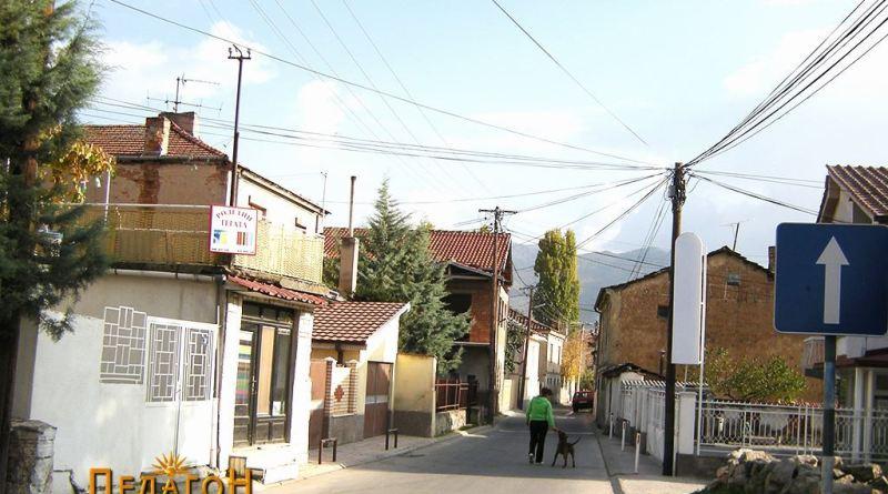 """Улицата """"Браќа Ламески"""" со куќата со магазата"""