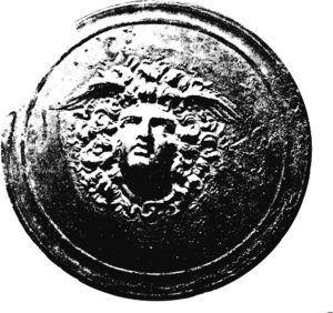 Горгоната Медуза од Крушевица - поклопец од огледало