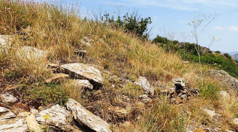 Од ѕидиштето на јужната тумба