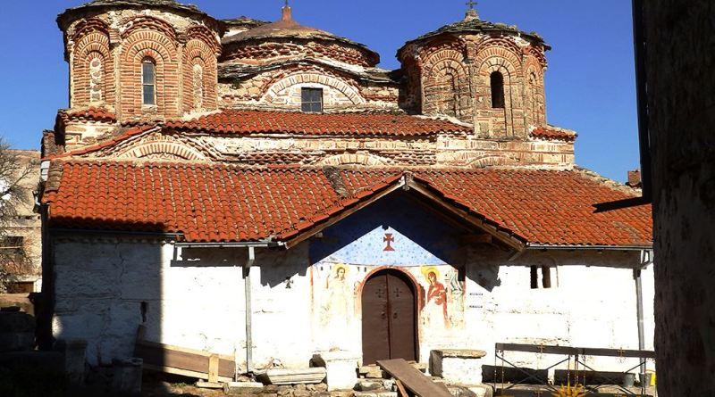 """Црквата """"Успение на Пресвета Богородица"""" во манастирот """"Трескавец"""" - од запад"""