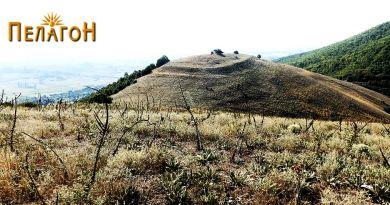 """Утврдувањето на """"Трновски Рид"""" - поглед од """"Кале"""""""