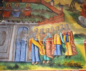 "Пред портите на рајот од ""Страшное второе пришествие Христово"""