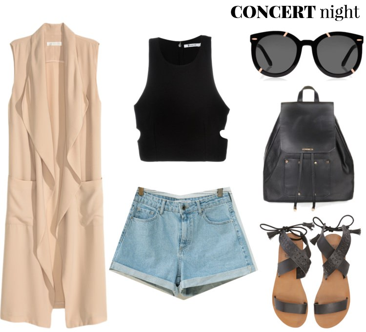 outfit ideas, polyvore, pelamarela, blogger, fashion, style, summer, concert outfit, music festival