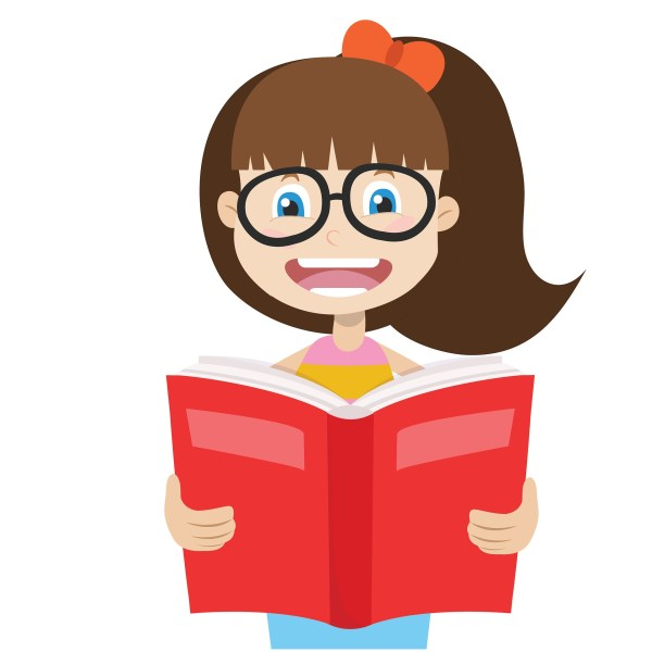 Girl Reading Illustration - Town Of Pelham Public Library
