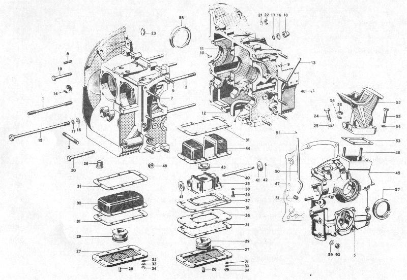 Pelican Parts: Porsche 356B Engine Case & Oil Sump