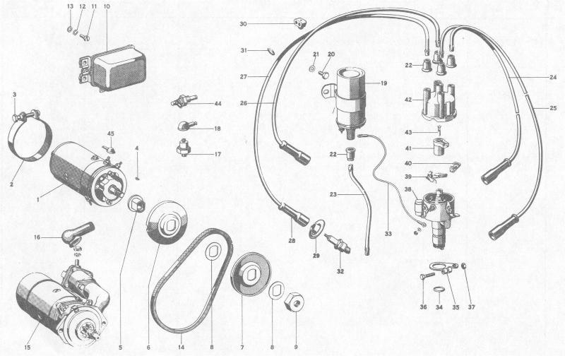 Pelican Parts: Porsche 356B Alternator, Starter
