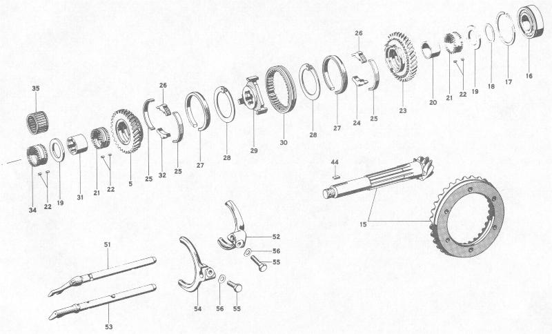 Pelican Parts: Porsche 356B Transmission Gears and Shafts