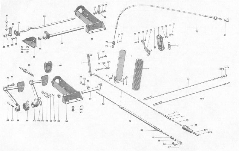 Pelican Parts: Porsche 356B Foot Pedal Assembly
