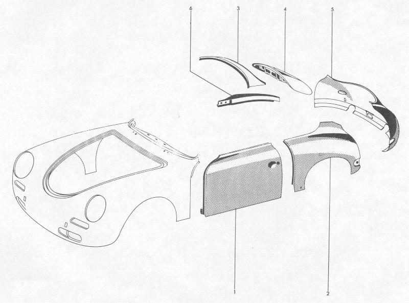 Pelican Parts: Porsche 356B Exterior Paneling for