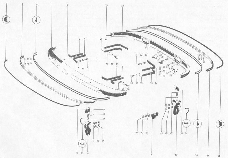 Pelican Parts: Porsche 356B Front & Rear Bumpers