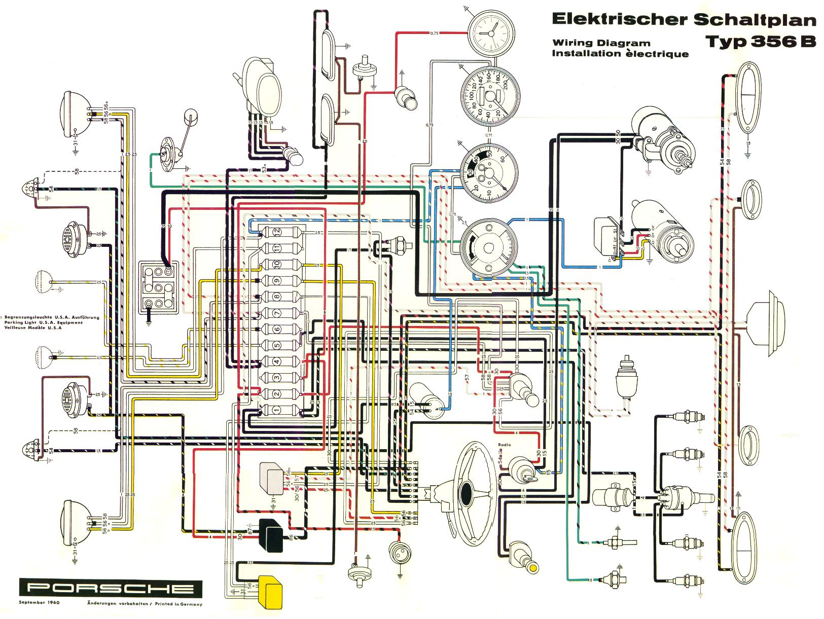 Pelican Parts Porsche 356 Electrical Diagram