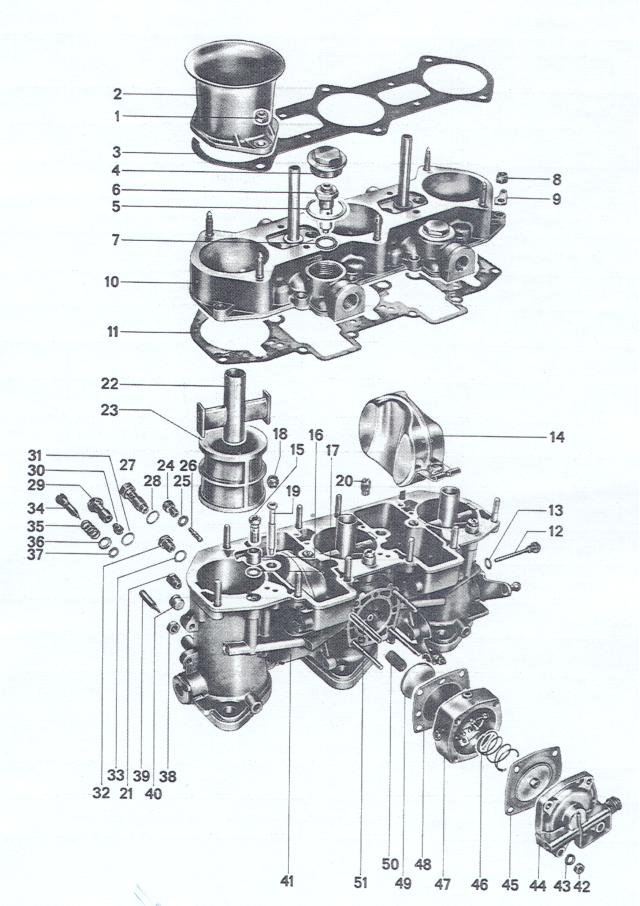 Pelican Parts: Porsche 911 & 914-6 Weber Carb Exploded View