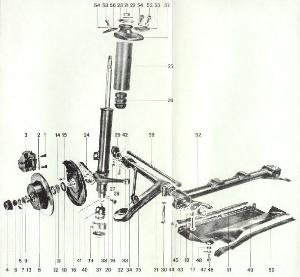 Pelican Parts: Porsche 914 Front Suspension Detail