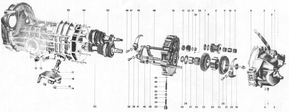 Pelican Parts: Porsche 914 Side Shift Transmission Assembly