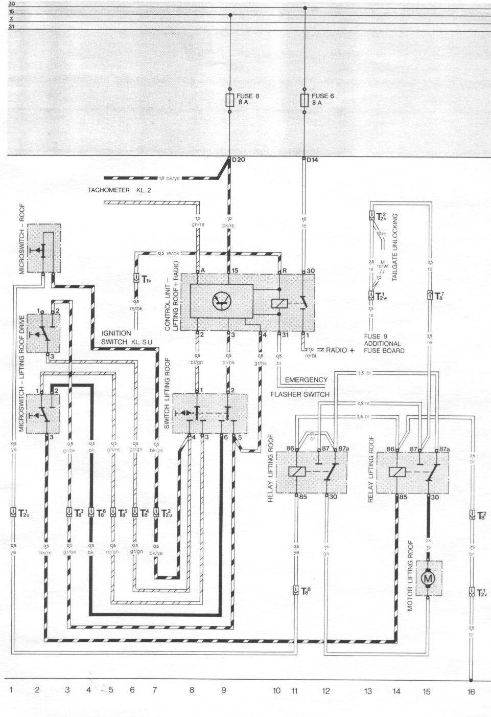 1984 porsche 924 fuse box diagram