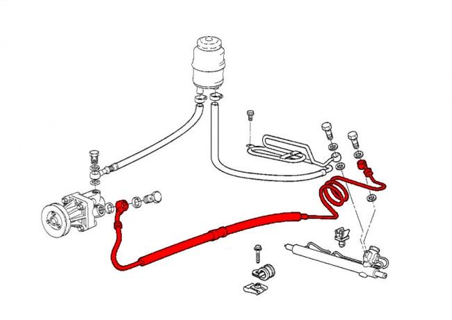 Power Steering Hose Power Steering Pump to Steering Rack