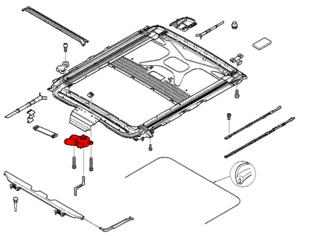 Bmw sunroof parts diagram
