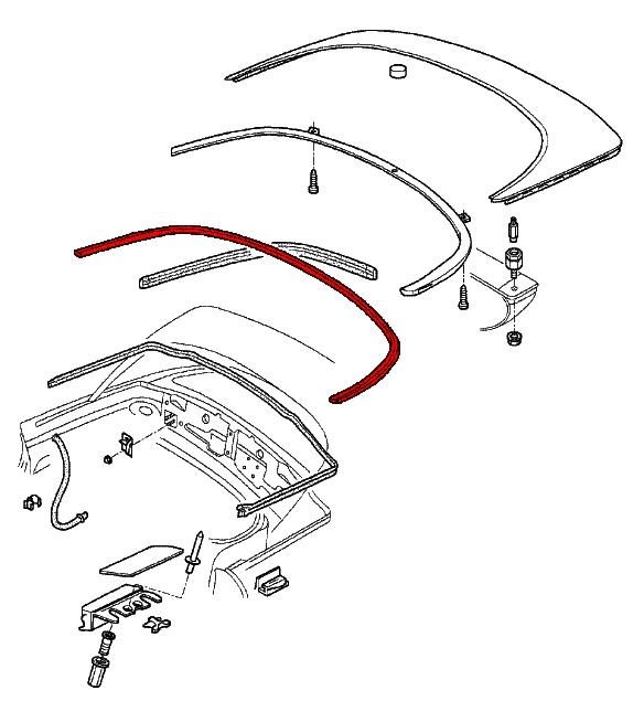 2000 Porsche Boxster Convertible Top Parts Diagram 2000