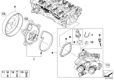 N14 Engine Diagram Thermostat, N14, Free Engine Image For