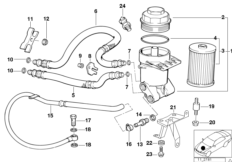 Oil Hose from Oil Filter Housing Inlet 11421440181