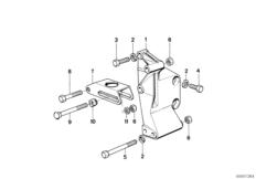 Adjusting Support for Alternator Belt 12311714450
