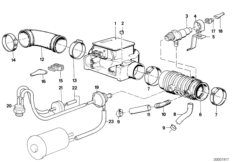 Breather Hose from Idle Control Valve 13411710793