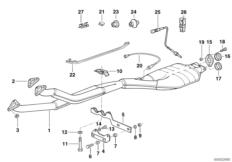 Rubber Bushing; Exhaust Hanger Hardware 18207546579