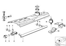 Yellow plastic washer/bushing/shim for shift selector rod
